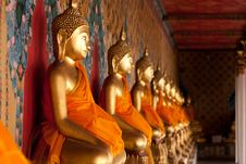 Buddha At Wat Arun, Bangkok Travel Royalty Free Stock Photography