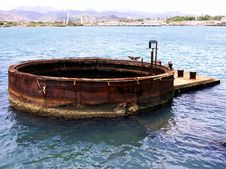 Free USS Arizona Wreckage (External) Royalty Free Stock Photo - 190345