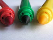 Free Basic Colors II-Markers Royalty Free Stock Image - 191886