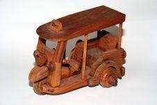 Free Thai Wooden Taxi Stock Photo - 194960
