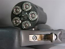 Gun - Revolver - Loaded, Open Cylinder Royalty Free Stock Image