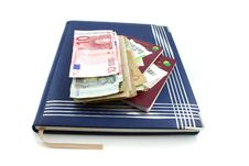 Free Diary With Passport And Money Stock Photo - 1900740