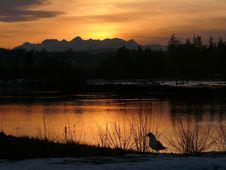 Free Estuary Sunset Royalty Free Stock Image - 1901486