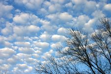 Perfect Cloudy Sky Royalty Free Stock Images