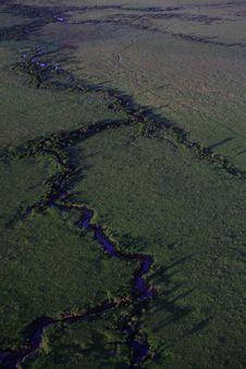 River Snaking Across The Masai Mara Stock Image