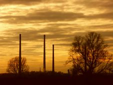 Free Chimneys In Sunset Stock Photo - 1903550