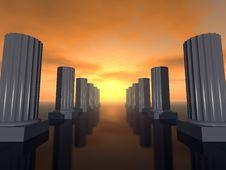 Futuristic Columns Royalty Free Stock Photo