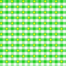Free Green Gingham Small Flowers Royalty Free Stock Photography - 1905117