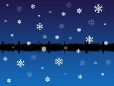 Winter Skyline Royalty Free Stock Photography