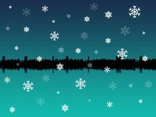 Winter Skyline Stock Photography