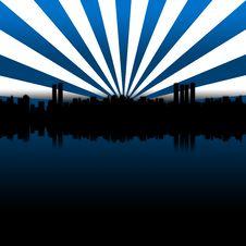 Free Big City Blue Stock Image - 1907721