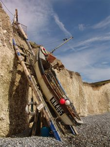 Free Fishing Boat At Birling Gap Royalty Free Stock Photo - 1908855