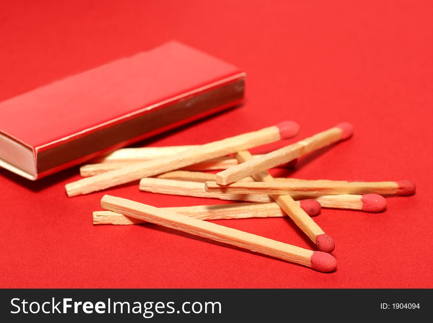 Red matches with box on red