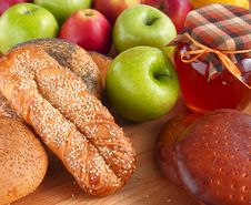 Free Baking, Apples And Honey. Stock Images - 19004334