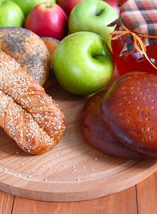 Free Baking, Apples And Honey. Stock Photography - 19004482