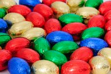 Free Chocolate Eggs A Traditional Easter Sweet Stock Images - 19004904