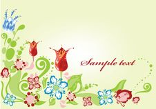 Free Background With Flowers Stock Photos - 19005013