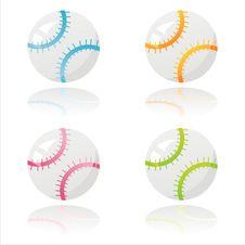 Colorful Baseball Balls Stock Photography