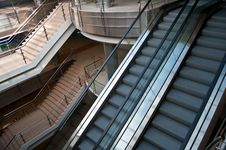 Free Escalators And Stairs Royalty Free Stock Photo - 19006655