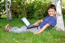 Free Boy With Notebook Royalty Free Stock Photography - 19006857