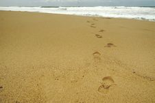 Free Footprints Royalty Free Stock Photos - 19007938