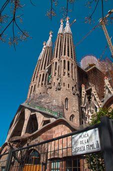 Free Sagrada Familia Royalty Free Stock Images - 19008449