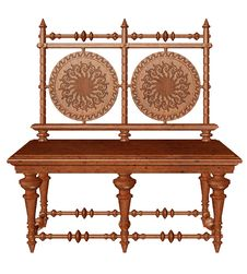 Free Ornamented Bench Stock Image - 19008551