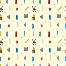 Free Seamless Stationery Pattern Stock Photos - 19009363