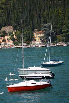 Some Boats At Lake Stock Photo