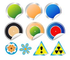 Free Set Of Stickers Stock Images - 19009824