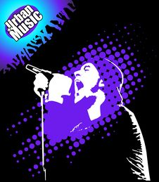 Free Rap Music Illustration Stock Image - 19009831