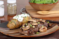 Free Steak With Mushroom Dinner Stock Photography - 19011642