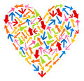 Free Heart From Arrows Royalty Free Stock Photography - 19013707
