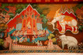 Free Thai Art Mural Royalty Free Stock Photos - 19014328