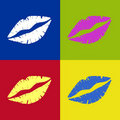 Free Vectored Lipstick Kiss Retro Royalty Free Stock Images - 19018809
