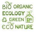Free Eco Text Set Stock Photography - 19019752