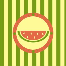 Free Cute Melon Background Royalty Free Stock Photo - 19010195
