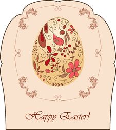 Free Vintage Easter Card Royalty Free Stock Images - 19010219