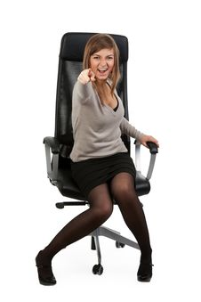 Free Girl In An Office Chair Stock Photo - 19010580