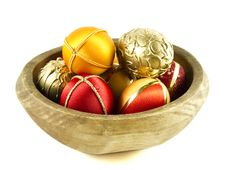 Free Easter Eggs In A Wooden Bowl Stock Photos - 19010833