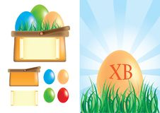 Free Easter Basket With Eggs Stock Photo - 19011520