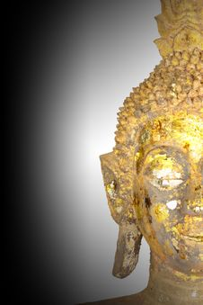 Free Half Face Of Buddha Royalty Free Stock Photography - 19011767