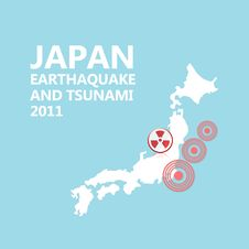 Free Japan Map And Seismic Epicenter Royalty Free Stock Photo - 19013125