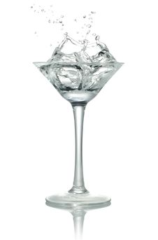 ICE Into The Glass, Royalty Free Stock Photography
