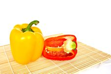Free Yellow And Red Sweet Peppers Stock Image - 19013261