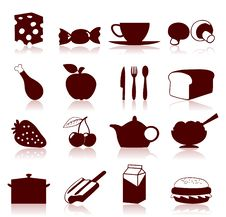 Free Food Icon4 Royalty Free Stock Images - 19013689