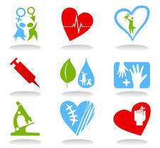 Free Medical Icons6 Stock Photo - 19013810