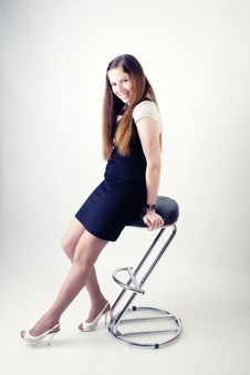 Free Girl On The Chair Stock Photo - 19014640