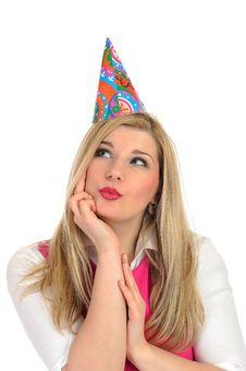 Free Pretty Party Female Celebrating Birthsday Royalty Free Stock Photo - 19014715