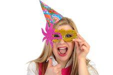 Free Pretty Party Female Celebrating Birthsday Royalty Free Stock Image - 19014756